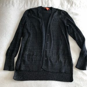 Joe fresh gold and black sparkly cardi